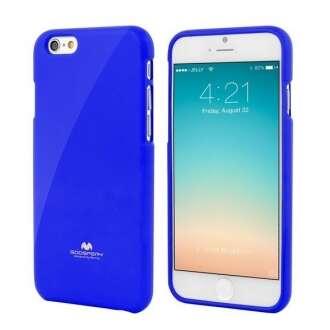 Iphone 6 kék rugalmas szilikon hátlap