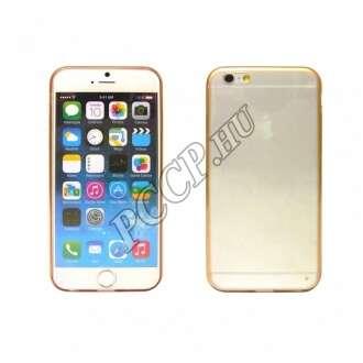 Apple Iphone 6 Plus arany ultravékony szilikon hátlap
