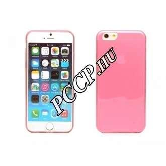 Apple Iphone 6 pink ultravékony szilikon hátlap