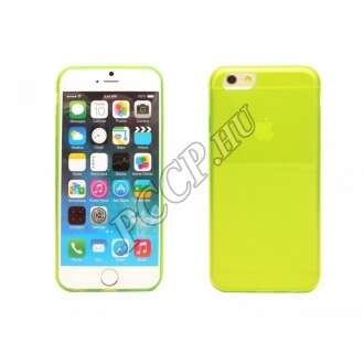 Apple Iphone 6 citromsárga ultravékony szilikon hátlap