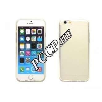 Apple Iphone 6 átlátszó-fehér vékony szilikon hátlap