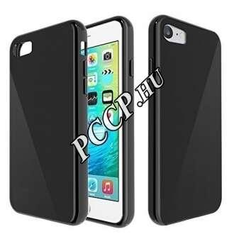 Apple iPhone 7 fekete vékony szilikon hátlap