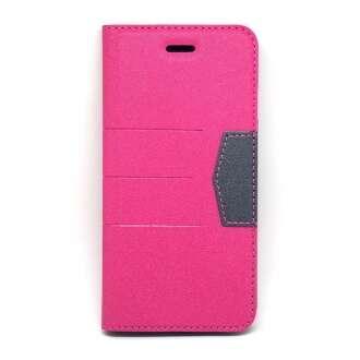 Apple Iphone 8 Plus pink oldalra nyíló tok
