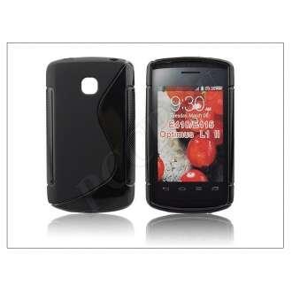 LG Optimus L1 II fekete szilikon hátlap