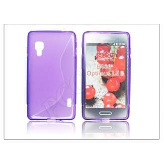 LG Optimus L5 II lila szilikon hátlap
