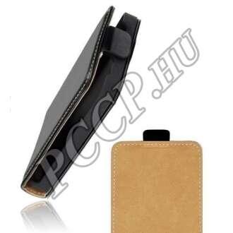 LG G4 fekete flip bőr tok
