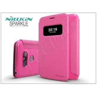LG G5 pink oldalra nyíló flip tok