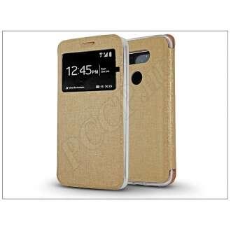 LG G5 arany oldalra nyíló flip tok