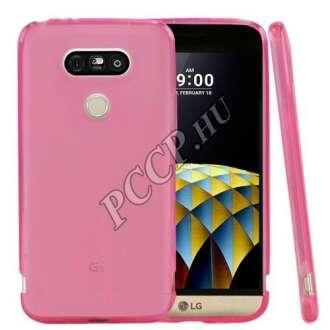 LG G5 pink vékony szilikon hátlap