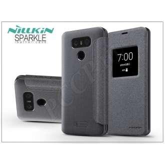 LG G6 fekete oldalra nyíló flip tok