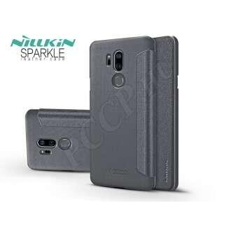 LG G7 Thinq fekete oldalra nyíló tok