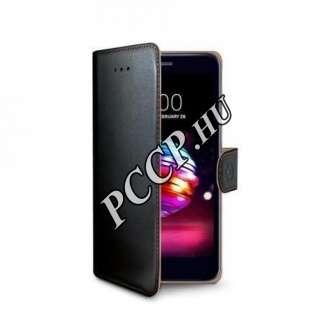 LG K10 (2018) fekete oldalra nyíló tok