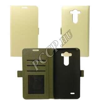LG K10 fehér flip oldalra nyíló tok