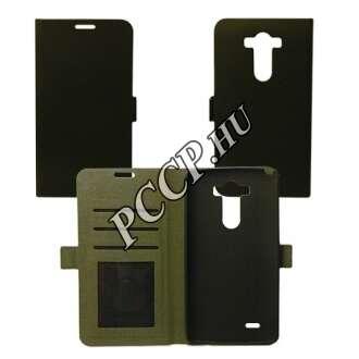 LG K10 fekete flip oldalra nyíló tok