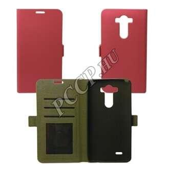 LG K10 pink flip oldalra nyíló tok