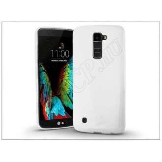 LG K10 (2016) fehér szilikon hátlap