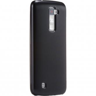 LG K10 fekete vékony szilikon hátlap