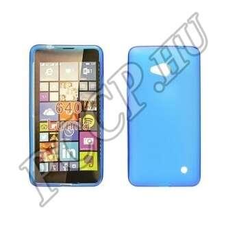 Microsoft Lumia 640 kék vékony szilikon hátlap