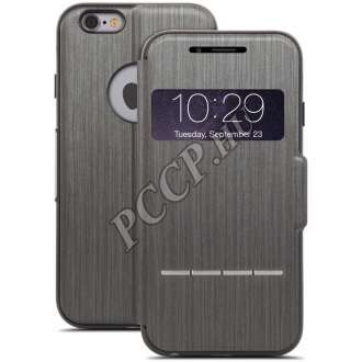 Apple Iphone 6 Plus fekete ablakos cover tok