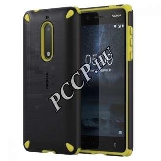 Nokia 5 fekete/citrom ütésálló műanyag hátlap