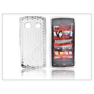 Nokia 500 fehér szilikon hátlap