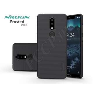 Nokia 5.1 Plus fekete hátlap kijelzővédő fóliával