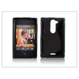 Nokia Asha 502 fekete szilikon hátlap