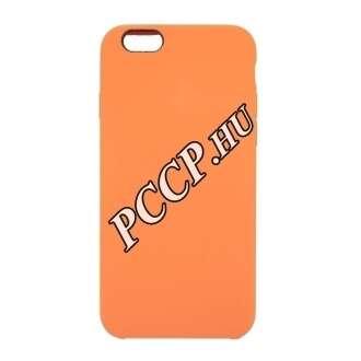 Apple Iphone 8 Plus narancs prémium szilikon hátlap
