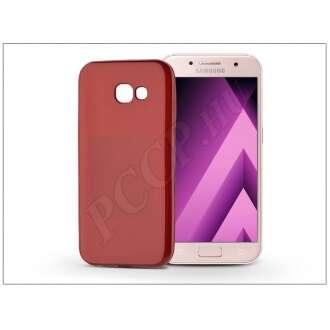 Samsung Galaxy A3 (2017) piros szilikon hátlap