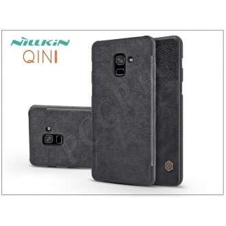 Samsung Galaxy A8 Plus (2018) fekete oldalra nyíló flip tok