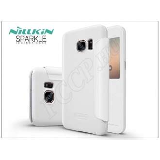 Samsung Galaxy S7 fehér oldalra nyíló flip tok