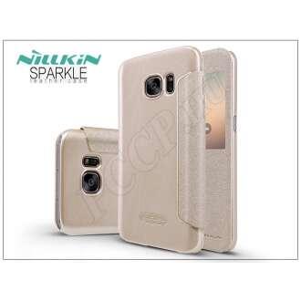 Samsung Galaxy S7 arany oldalra nyíló flip tok