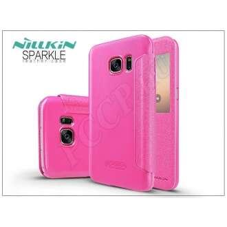Samsung Galaxy S7 pink oldalra nyíló flip tok