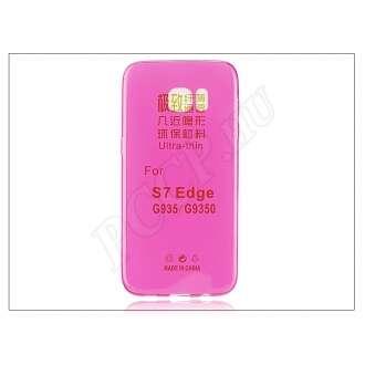 Samsung Galaxy S7 Edge pink szilikon hátlap
