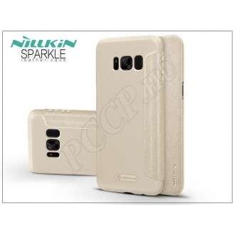 Samsung Galaxy S8 Plus arany oldalra nyíló flip tok