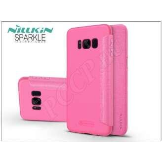 Samsung Galaxy S8 Plus pink oldalra nyíló flip tok