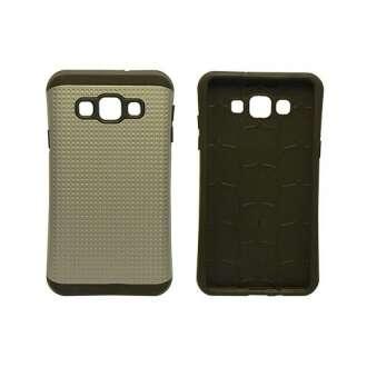 Samsung Galaxy A3 ütésálló szürke védőhátlap