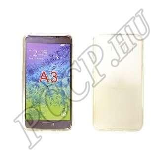 Samsung Galaxy A3 átlátszó vékony szilikon hátlap