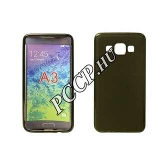 Samsung Galaxy A3 (2016) fekete vékony szilikon hátlap