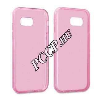 Samsung Galaxy A3 (2017) pink vékony szilikon hátlap