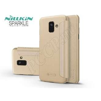 Samsung Galaxy A6 (2018) arany oldalra nyíló tok