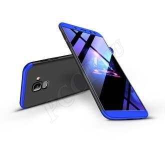 Samsung Galaxy A6 (2018) fekete/kék három részből álló védőtok