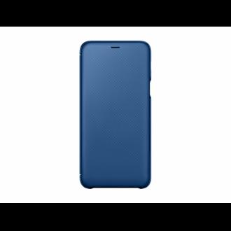 Samsung Galaxy A6 Plus kék flip cover tok