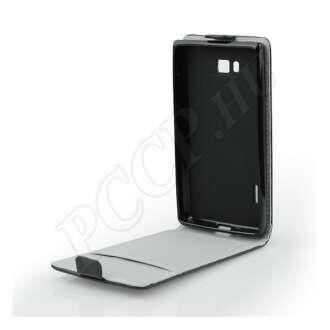 Samsung Galaxy A6 Plus (2018) fekete flip tok
