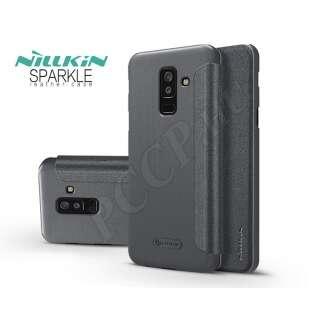 Samsung Galaxy A6 Plus (2018) fekete oldalra nyíló tok