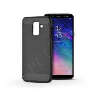 Samsung Galaxy A6 Plus (2018) fekete szilikon hátlap