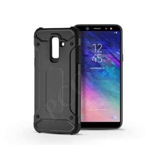 Samsung Galaxy A6 Plus (2018) fekete ütésálló hátlap