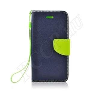 Samsung Galaxy A6 Plus (2018) kék-lime flip tok