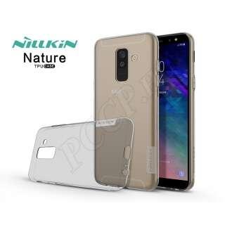 Samsung Galaxy A6 Plus (2018) szürke szilikon hátlap