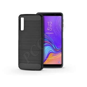 Samsung Galaxy A7 (2018) karbon fekete szilikon hátlap